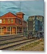 The Historic Santa Fe Railroad Station Metal Print