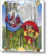 The Holly King And The Oak King Metal Print