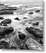 The Jagged Rocks And Cliffs Of Montana De Oro State Park Metal Print