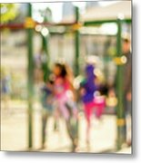 The Kids At The Playground During Day In The City Of Los Angeles Metal Print