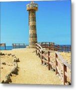 The Lighthouse In Salinas, Ecuador Metal Print