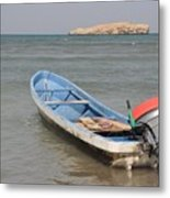 The Lonely Boat Metal Print