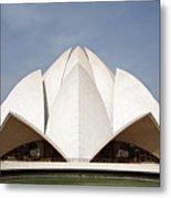 The Lotus Temple In New Delhi Metal Print