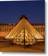 The Louvre Art Museum Metal Print