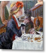 The Luncheon Of The Boating Party Metal Print by Pierre Auguste Renoir