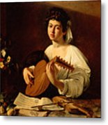 The Lute-player Metal Print