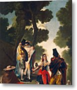 The Maja And The Cloaked Men, Or A Walk Through Andalusia Metal Print