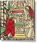 The Mass Of Saint Gregory Metal Print