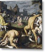 The Massacre Of The Innocents, 1590 Metal Print