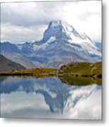 The Matterhorn And Lake Stellisee Metal Print
