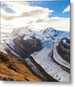 The Monte Rosa Massif In Switzerland Metal Print