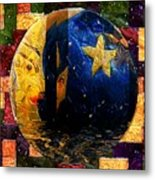 The Moon Has A Bath Metal Print