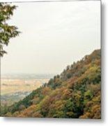 The Mountain View At The Yoro Waterfall In Gifu, Japan, November Metal Print