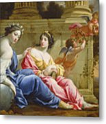 The Muses Urania And Calliope Metal Print