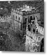 The Mutianyu Section Of The Great Wall Of China, Mutianyu Valley Metal Print