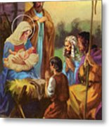 The Nativity Metal Print by Valer Ian