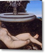 The Nymph Of The Fountain Metal Print