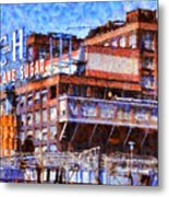 The Old C And H Pure Cane Sugar Plant In Crockett California . 5d16769 Metal Print