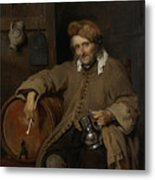 The Old Drinker Metal Print