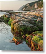 The Passetto Rocks At Sunrise, Ancona, Italy Metal Print