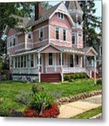 The Pink House Metal Print