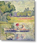 The Promenade In The Bois De Boulogne Metal Print