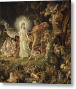 The Quarrel Of Oberon And Titania Metal Print
