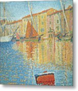 The Red Buoy Metal Print by Paul Signac