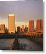 The Richmond, Virginia Skyline Metal Print by Medford Taylor