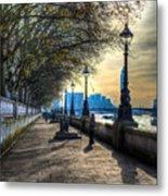 The River Thames Path Metal Print