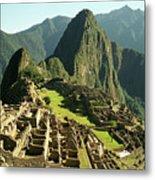 The Ruins Of Machu Picchu, Peru, Latin America Metal Print