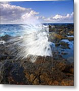 The Sea Erupts Metal Print by Mike  Dawson