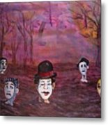 The Silence Of The Mimefield Metal Print
