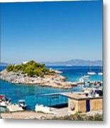 The Small Island Aponisos Near Agistri Island - Greece Metal Print