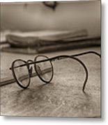 The Spectacles Metal Print