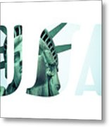 The Statue Of Liberty At New York City  Metal Print