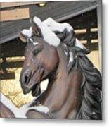 The Stood Horse  Metal Print