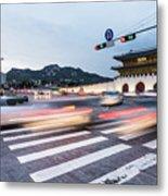 The Streets Of Seoul, South Korea Metal Print