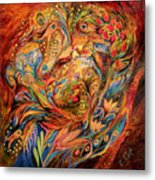 The Tale About Fiery Rooster Metal Print