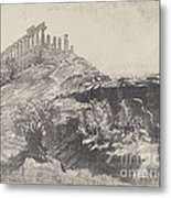 The Temple Of Concord On The Wall, Girgenti Metal Print