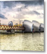 The Thames Barrier London Metal Print