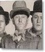 The Three Stooges Hollywood Legends Metal Print