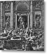 The Trevi Fountain  Metal Print