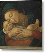 The Virgin And Child With Four Saints Metal Print