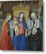 The Virgin And Child With Saints Metal Print