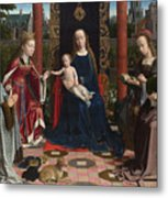 The Virgin And Child With Saints And Donor Metal Print