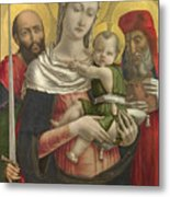 The Virgin And Child With Saints Paul And Jerome Metal Print