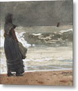 The Watcher, Tynemouth Metal Print
