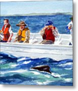 The Whale Watchers Metal Print