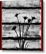 Thistles By The Barn Metal Print